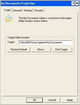 Documents windows xp offline files for my documents for Move my documents xp